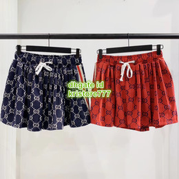 Falda corta de jersey online-Mujeres Carta Vintage Vintage Jersey Shorts Falda El High-End Custom Girls Zipper Fly Mini Shorts Summer Runway Shorts