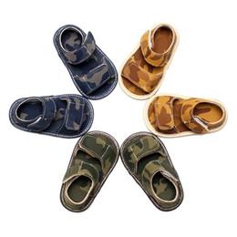 Baby-sandale muster online-M31Baby Jungen Mädchen Sommer Schuhe PU Weichen Boden Sandalen Kleinkind Neugeborenen Casual Baby Camouflage Muster Mode Schuhe