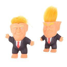 Argentina Figura de celebridad de plástico blando Presidente Donald John Trump Figura de acción Trump Toy Troll Muñeca Cabello al jefe cheap celebrity figures Suministro