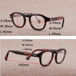 Große rahmenbrillen online-Cubojue Brillengestell Männer Acetat Schwarze Schildkröte Brille Mann Kleine Große Größe Brillen Make-Up Nerd Punkte