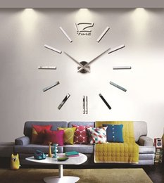 Adesivo a campana online-Spedizione gratuita nuovo alla moda grande orologio da parete 3d fai da te orologio decorazioni per la casa campana fresco adesivi adesivi arte orologio