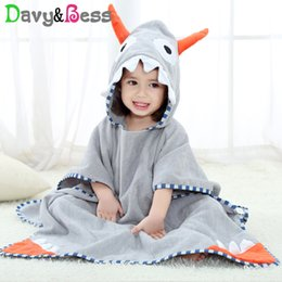 new born baby towels Coupons - Cotton Baby Towel With Hood Child Bathrobe Baby Bath Towel Animal New Born Poncho Children Soft Beach Hooded for Kids