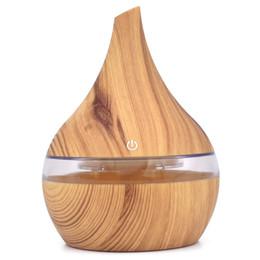 Canada 300 ml USB électrique Aroma diffuseur d'air en bois humidificateur d'air à ultrasons huile essentielle Aromathérapie frais brumisateur pour la maison de voiture cheap essential oils home Offre