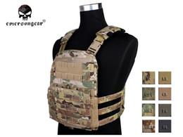 Chaleco negro airsoft online-Emerson CP Style Ligero AVS VEST Tela de caza Chaleco AVS Chaleco adaptable Airsoft Combat Gear EM7398 Multicam Negro AOR # 134363