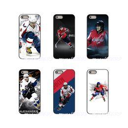Caso do iphone do hóquei on-line-Alexander ovechkin nhl estrela hockey hard phone case capa para apple iphone x xs xs max 4 4s 5 5s 5c se 6 6 s 7 8 além de ipod touch 4 5 6