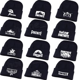 Fortnite Hats 12 styles Skuilles Beanies Fortnite Battle Knitted caps Hip  Hop Embroidery Knitted ski hat Winter Warm Girls Boys mens hats 08a9a23c6d60