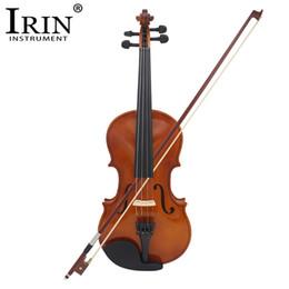 instrumentos de bordo Desconto IRIN 4/4 Full Size Violino Acústico Violino Violino Artesanato Violino Com Caso Mudo Arco Cordas 4-String Instrumento Para Beiginner