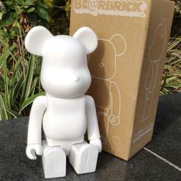 Bloco de urso on-line-11 polegadas 400% Bearbrick Bear @ tijolo Figuras de Ação Bloco Urso Modelo PVC Figuras Crianças Presentes DIY Pintura Bonecas Crianças Brinquedos T190912