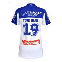 Magliette personalizzate di stampa online-Bulldogs Rugby Maglie 2019 National Rugby League Bankstown Bulldogs Jersey Stampa Rugby Camicie Taglia S-3XL Personalizza Nome e numero