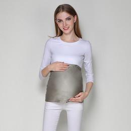 Anti-strahlung kleidung online-Schwangere Frauen Anti-Strahlung Bauch Schutz fötale Silberfaser einstellbar große Größe Strahlenschutz Kleidung Mutterschaft Kleid