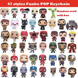 47 nuovi stili Funko POP Marvel Super Hero Action figure Harley Quinn Deadpool Spiderman Joker Game of Thrones Figurine giocattolo Keychain da