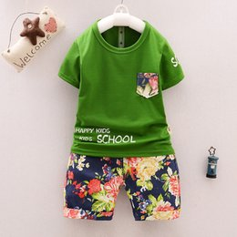 e9c4735f06f good quality Summer Baby Clothing Sets Toddler Boys Clothes Set Kids Sports Suits  Tops T-shirts + Printed Pants Baby Boy Clothes