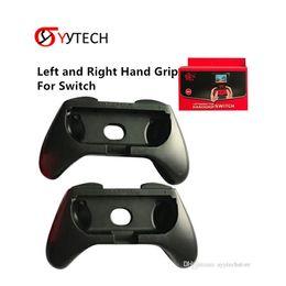 2019 freude schwarz SYYTECH Doppelter linker und rechter Handgriff Ständer Controller Griff Schwarz Farbe für Nintendo Switch Joy con günstig freude schwarz