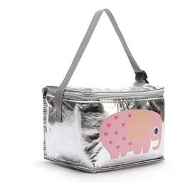 Sacchetti per animali online-6L Lunch Bags Cartoon Animal Thermal PEVA per alimenti per bambini Picnic Cooler Bags Storage isolato Conservare fresco Borse per bambini