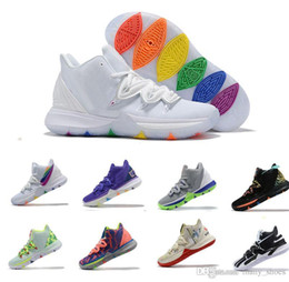 Kyrie 5 Irving 2019 Kyrie Taco Black Magic Sky concept star Scarpe da Basket uomo Chaussures 5s 5 Uomo Rainbow Black Sneakers sportive Taglia US 7-12 da