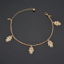 calzini in oro Sconti Braccialetto di cavigliera del braccialetto di caviglia dei gioielli di colore dell'argento del braccialetto del piede di yoga della caviglia dei cavigliere dei cavigliere di yoga di estate della caviglia del pendente del braccialetto di estate