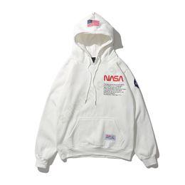 Luz encapuchada online-2019 Mens Branded Hoodie Light Fleece Sudaderas Moda Impreso con capucha Pullovers 6 colores Street Style Mens Sportswear ED15
