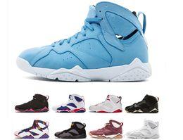 scarpe 7e di lepre Sconti 2018 economici 7s uomini scarpe da basket raptor guyz Hares olimpico Bordeaux GG cardinale raptor francese blu agrumi mens sport sneakers taglia 41-47