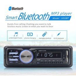 aux пульт дистанционного управления Скидка RS-1010BT 1 Din Bluetooth Автомобильный Автомобильный MP3-плеер Стерео-аудиоплеер с FM-радио AUX SD-карта U Воспроизведение диска ЖК-пульт дистанционного управления
