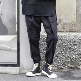 Hombres Punk negro gótico Hip Hop Casual Harem Pant Moda masculina Japón  Streetwear Pantalones Joggers pantalones de chándal 87e1b43d6ce