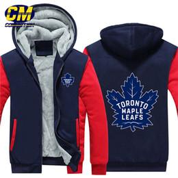 кленовая куртка Скидка НХЛ североамериканский хоккей сгущаться плюс бархат молния пальто мода капюшоном толстовка зима повседневная куртка Торонто Кленовые листья