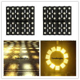 le luci di blinder di fase Sconti 2 pezzi Blinder Stage Light 36x3w ambra DMX LED Matrix Blinder Audience Blinder Light