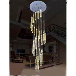 Лестница свет лампы долго подвесной свет пузыря хрустальная колонна гостиная светодиодная вилла спираль повернуть рыбалка на заказ пакет supplier crystal lighted columns от Поставщики хрустальные колонны