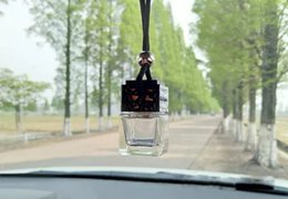 Cube bouteille de parfum Voiture suspendue Parfum Rearview Ornament Désodorisant Pour Huiles Essentielles Diffuseur Parfum Bouteille En Verre ? partir de fabricateur