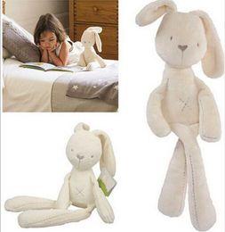 erwachsene spielzeug großhandelspreise Rabatt Britischer Aristokrat MaMaspapas Glatte gehorsame Kaninchenbabyschlaf-ruhige Puppe 40cm Beruhigen Sie die schlafende Puppe Häschen-Plüschtiere neu