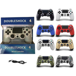 spiele steuert Rabatt Für PS4 USB Wired Connection Game Gamepad Controller 8 Farben Für SIXAXIS Playstation 4 Control Game Joysticks