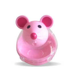 ratón con forma de gato Rebajas Nueva mascota Puppy Leak Ball Cat Feeder Toy Home Palstic Cute Mouse Shape Toys