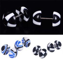 50 paires / set bonbons couleur acrylique bouchons en acier inoxydable oreille expansion champignon tête en forme de tunnels mode oreille piercing bijoux ? partir de fabricateur