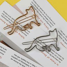 joyería en forma de gato de plata Rebajas 1 Unid Forma de Gato Pinza de Pelo Encantadora de Plata de Oro de Las Mujeres de Señora Girls Clamp Horquilla Joyería de Moda Estilo de Pelo Accesorios para el cabello Barrette
