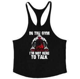 Chalecos de algodón para hombre xxl online-2019 Gymwear fitness Hombres camisa muscular chaleco masculino ropa de entrenamiento para hombres de algodón culturismo para hombre Stringer Casual Sportswear Gold