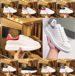 Женская свадебная плоская белая обувь онлайн-Beat дизайнер обуви тренеры светоотражающие 3 м белая кожа платформы кроссовки женские мужские плоские повседневная партия свадебные туфли замша спортивные кроссовки
