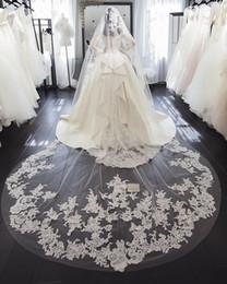 Rosto cobrir casamento véus on-line-2019 Best Selling 3 M Véus De Noiva Comprimento Longo Catedral Marfim Branco Véus De Noiva com Pente Véu De Noiva Longo Capa Véu Do Casamento Da Cara
