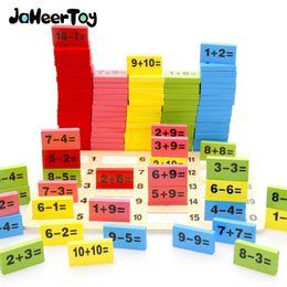 montessori giocattoli anno vecchio Sconti Jaheertoy Montessori giocattoli educativi per la matematica in legno per bambini Domino 3-4-5-6-7-8 anni gioco divertente regali per bambini J190427