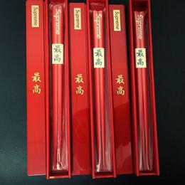 Custodia in porcellana online-sup 17FW bacchette di legno bacchette di legno con supporto e sicurezza Cina Chop Sticks casa Cucina Sala da tavola Regali di nozze