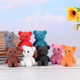 pingente boneca diy Desconto 8 Estilos de Lã Dos Desenhos Animados Urso Boneca Ornamento Pingente Estatuetas Em Miniatura Acessório Fada Decoração Do Jardim Musgo Micro Material de Paisagem DIY