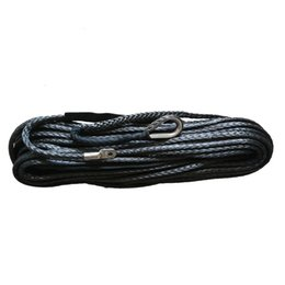 """12mm 1//2/"""" x 100/' gray Synthetic Winch Rope Cable 30M with Hawse Fairlead UTV 4X4"""