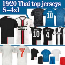 Jersey futbol online-Juventus 19 20 RONALDO JUVE pullover di calcio casa lontano Camisetas Futbol Camisas Maillot calcio camicia di uomini donne bambini XXS-4XL