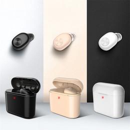 беспроводные невидимые телефоны Скидка Беспроводная Bluetooth-гарнитура для наушников Mini Invisible BL1 Зарядка для наушников Невидимый наушник Гарнитура Для телефона-вкладыша Mini BL1 Stereo