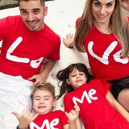 t-shirts imprimés famille Promotion T-shirts à manches courtes à col rond et à manches courtes pour famille et enfants