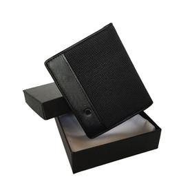 Stoff brieftaschen online-Herren Designer Brieftasche aus Leder mit Stoff stilvollen tragbaren Taschenmünzenmappe Designer-Kartenhalter kurze Geldclip Geldbörse Klapp