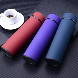2019 thermos-thermotassen Edelstahl-Thermowasserflasche Isolierflasche 450 ml Isolier-Thermoskanne Teebecher mit Sieb Thermobecher Kaffeetasse BC BH1385 rabatt thermos-thermotassen
