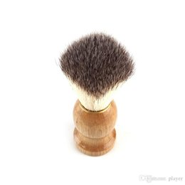 New Barber Hair Shaving Razor Brushes Manico in legno naturale Spazzola per barba per uomini Best Gift Barber Tool da eye makeup brush sets fornitori