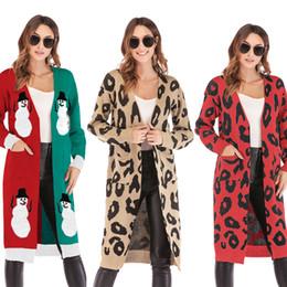 Leopar Bayan V Yaka Hırka Kazak Noel Uzun Kollu Kazak Sonbahar Moda Gevşek Örgü Ceket 14 Renkler supplier loose knitting cardigan nereden gevşek örme hırka tedarikçiler