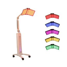 Luz led para el tratamiento de la piel online-7 Color Terapia de luz LED Máquina de belleza Facial Rejuvenecimiento de la piel Máquina PDT Uso del salón Luz LED Tratamiento para el acné