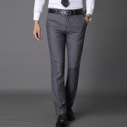 0f5942a8aa6 Custom Made men dress pants fit flat zipper fly cotton brand mens solid business  formal business suit pants office trousers