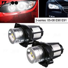 2019 lampe bmw x5 2pcs voiture-style Angel Eyes Demon yeux lumière Auto Lampe 12V LED Angel Eyes Cinq Couleur pour 3 séries BMW E90 E91 promotion lampe bmw x5